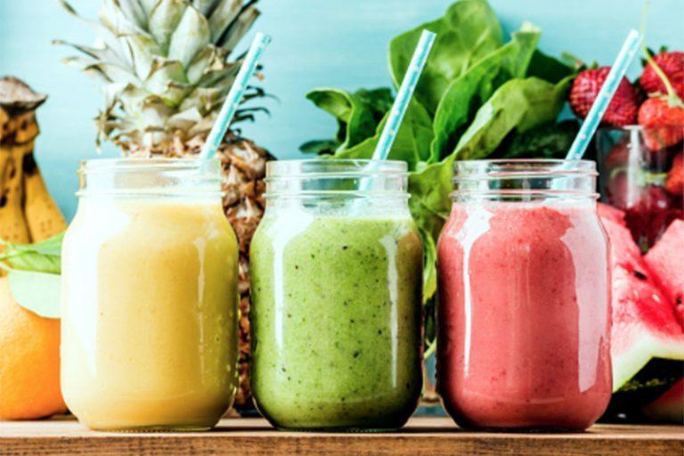 Smoothies refrescantes y bajos en calorías