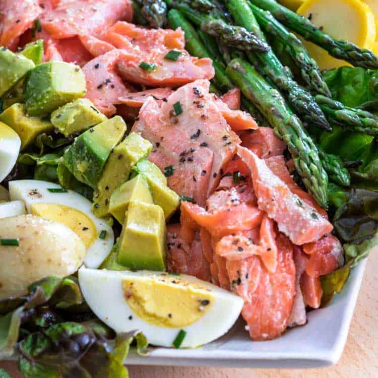 Receta light: ensalada de salmón