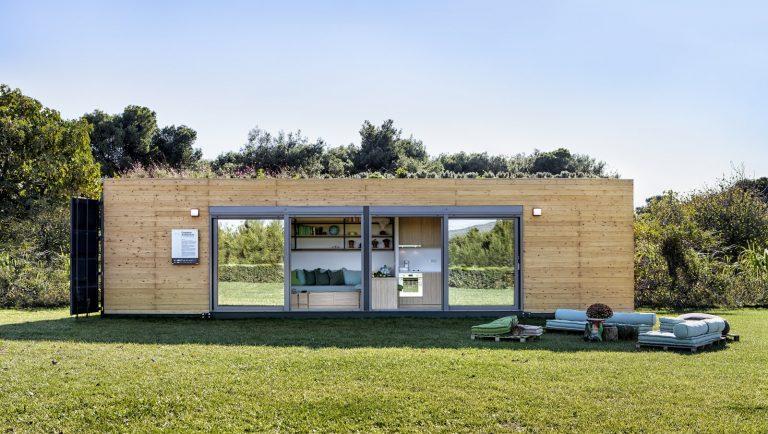 Contenedor de envío para una vivienda ambiental